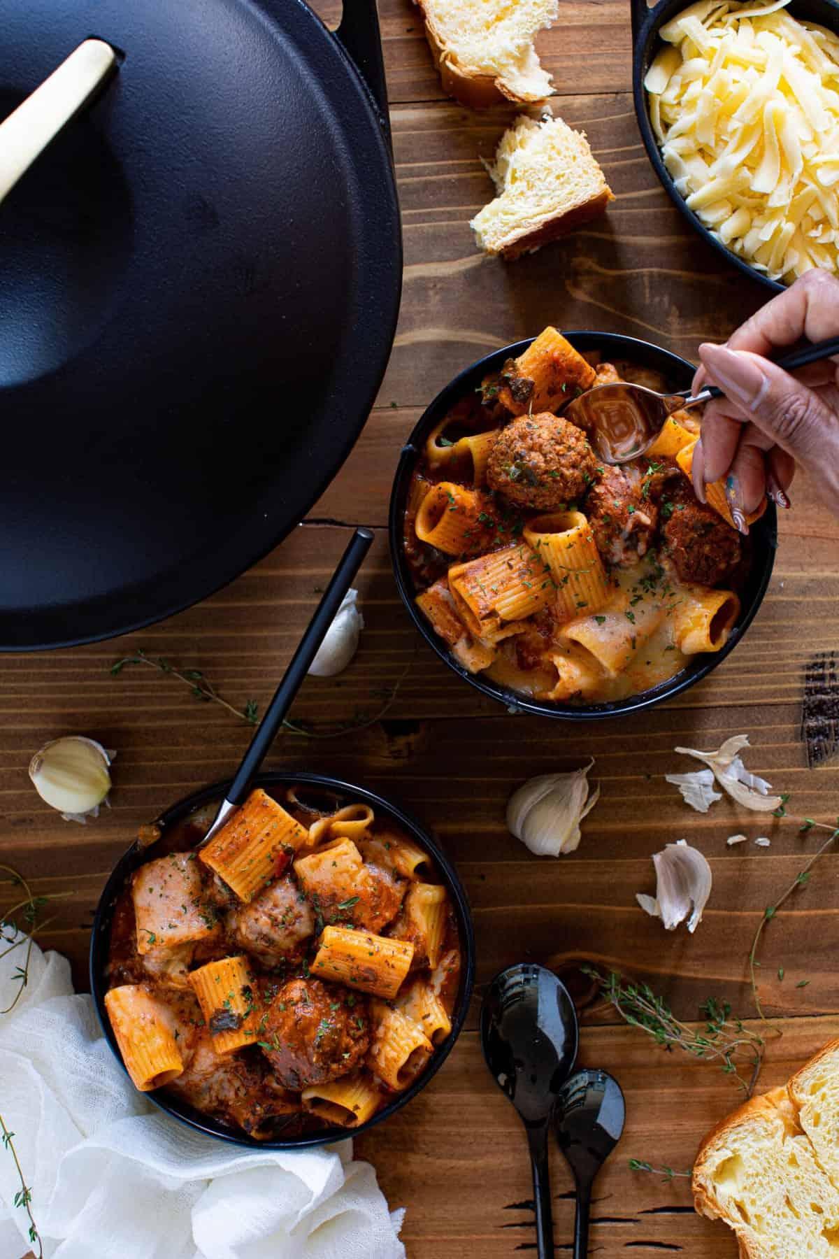Easy Flavorful Rigatoni Meatball Soup
