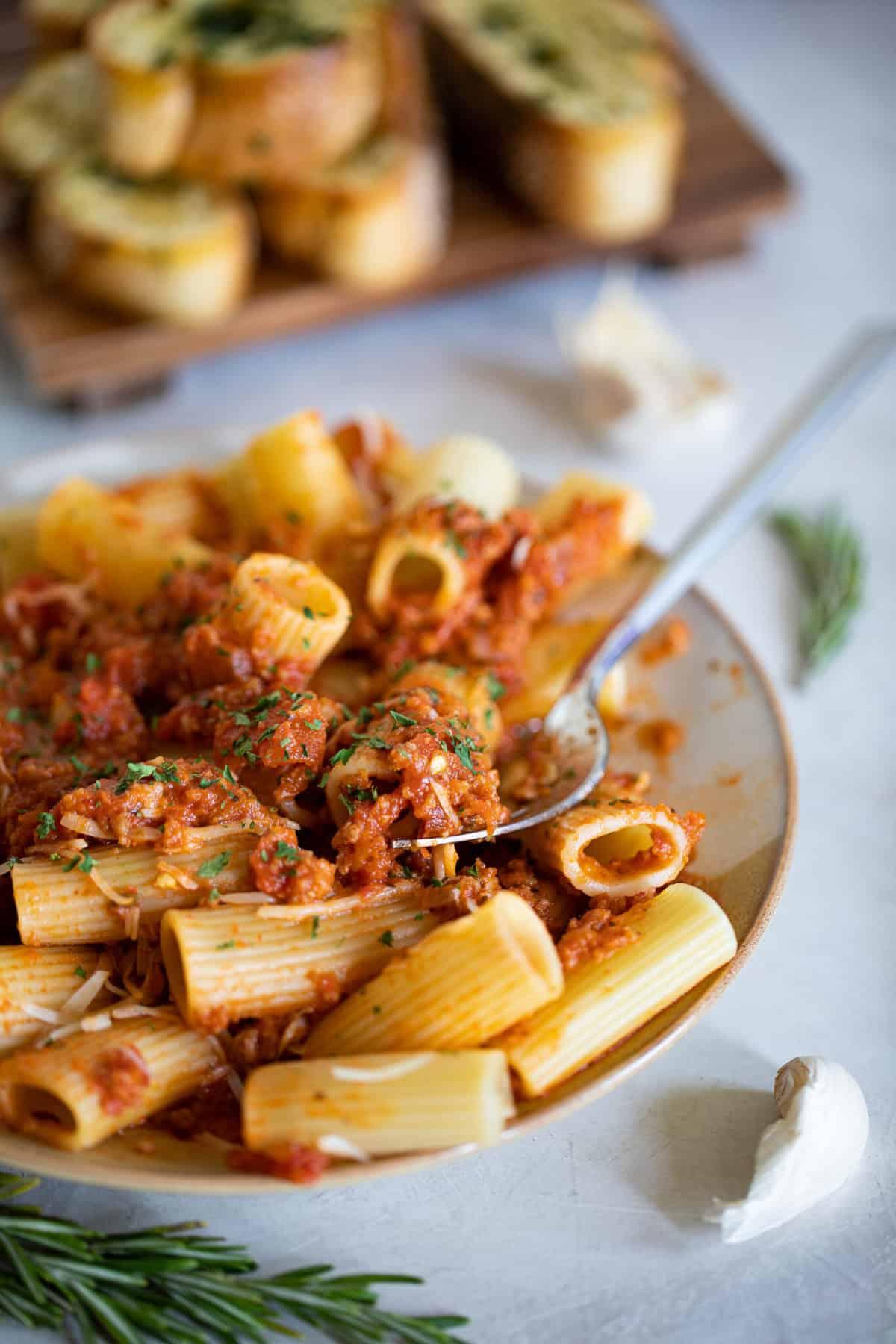 Meatless Bolognese Pasta