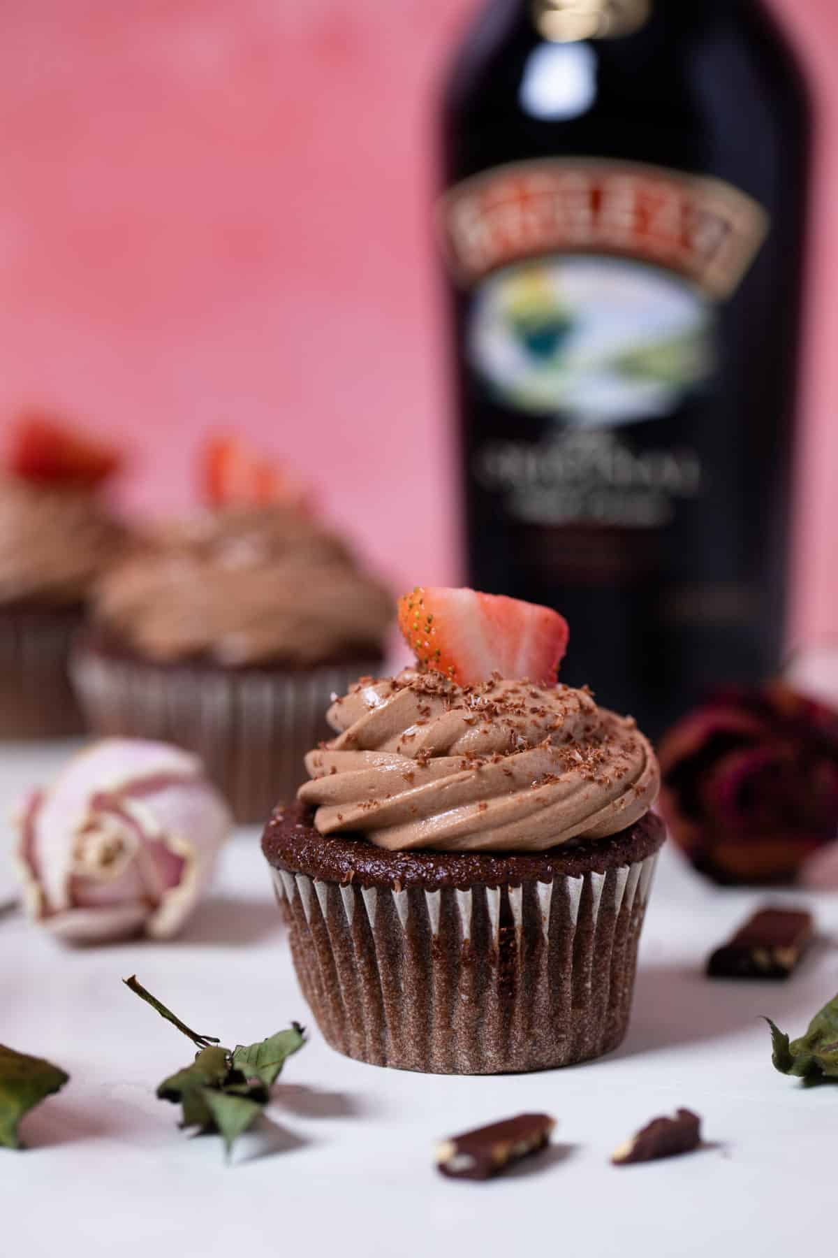 Break Up Bailey's Chocolate Cupcakes