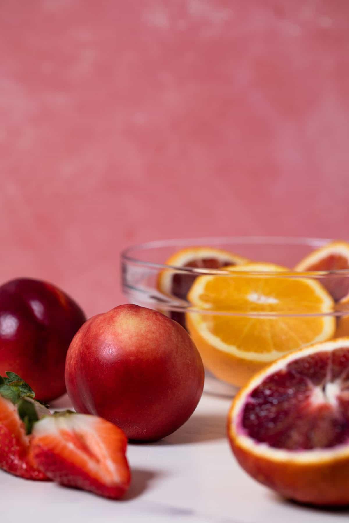 Blood Orange Strawberry Ginger Mocktail