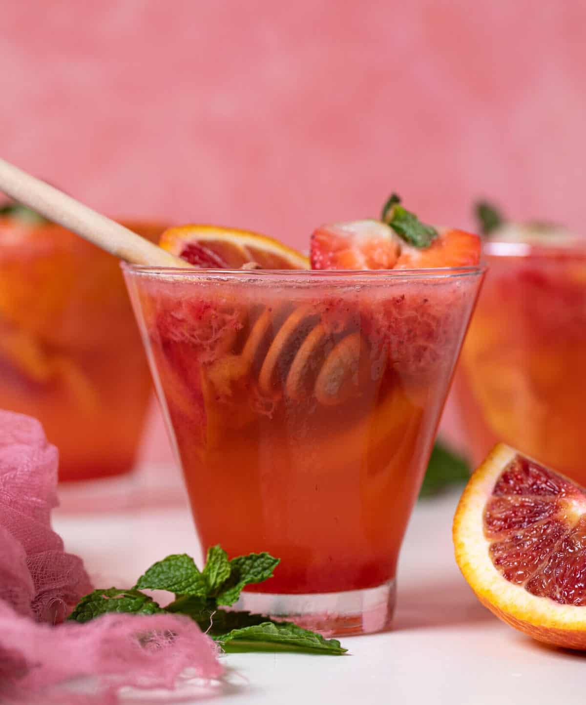 Blood Orange Strawberry Mocktail