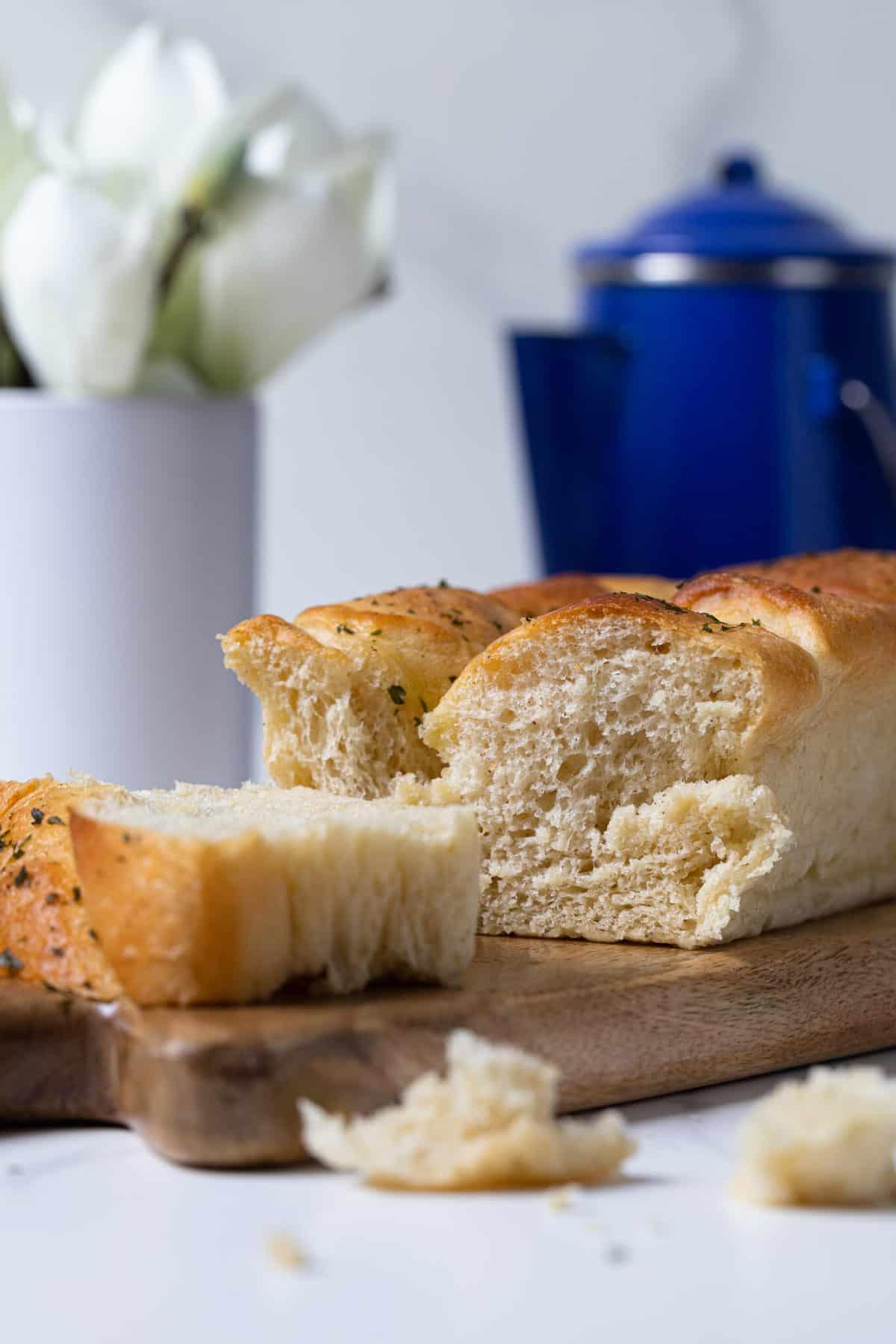 Easy Fluffy Vegan Brioche Bread