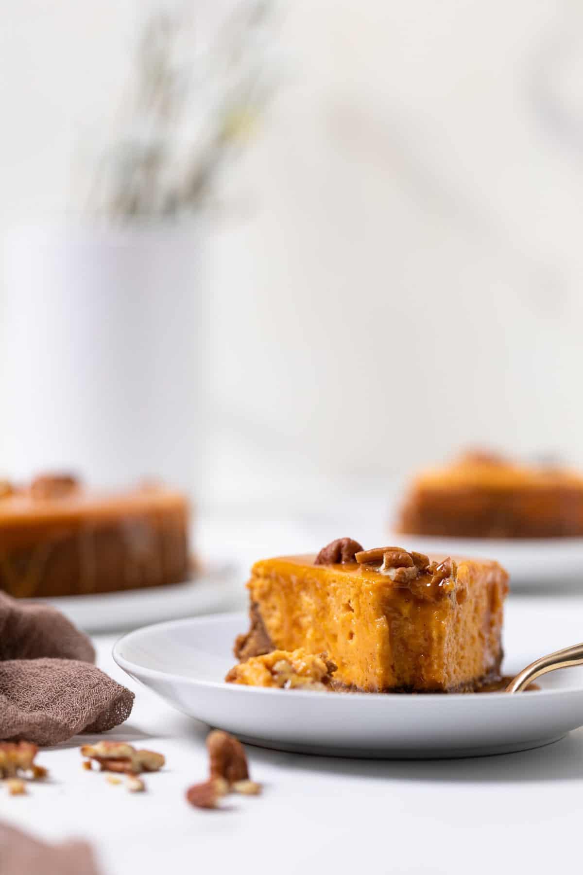 Sweet Potato Caramel Cheesecake