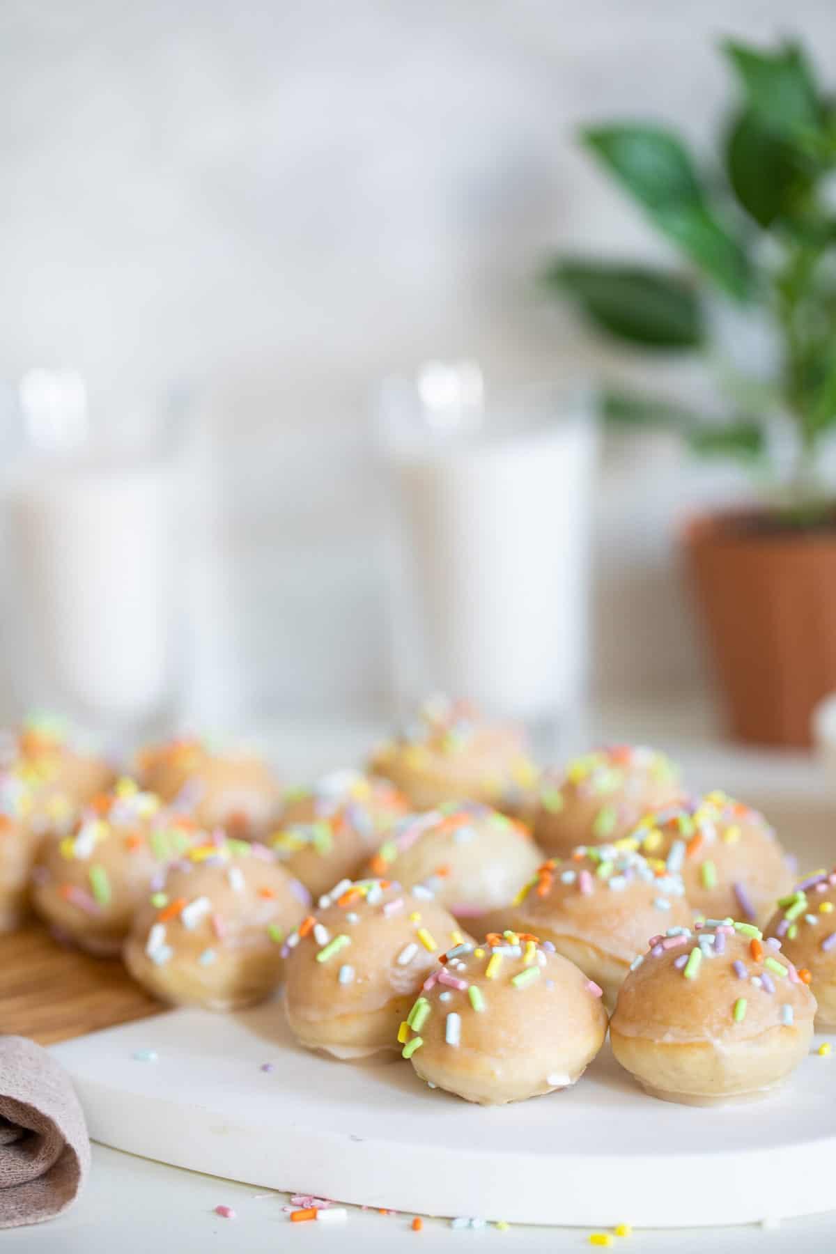 Vegan Sprinkle Donut Holes