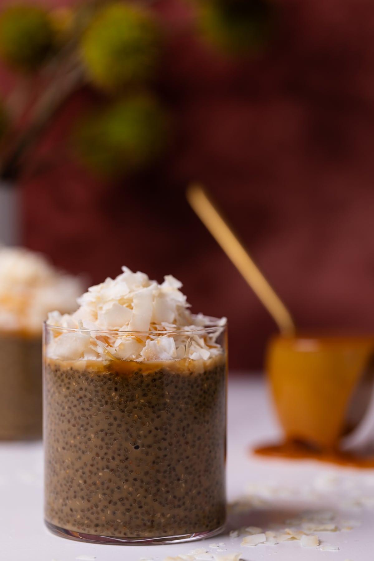 Caramel Macchiato Chia Pudding with Coconut