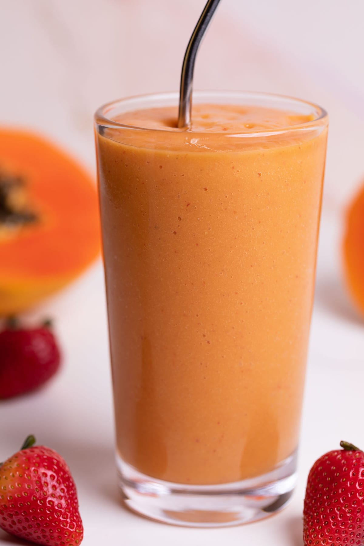 Strawberry Mango Papaya Smoothie