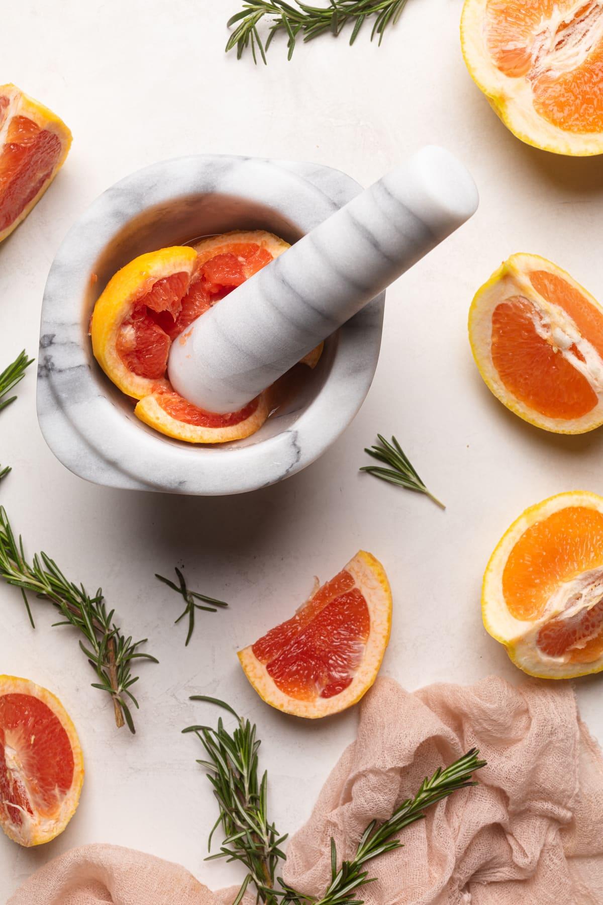 Grapefruit Apple Cider Vinegar Rosemary Detox