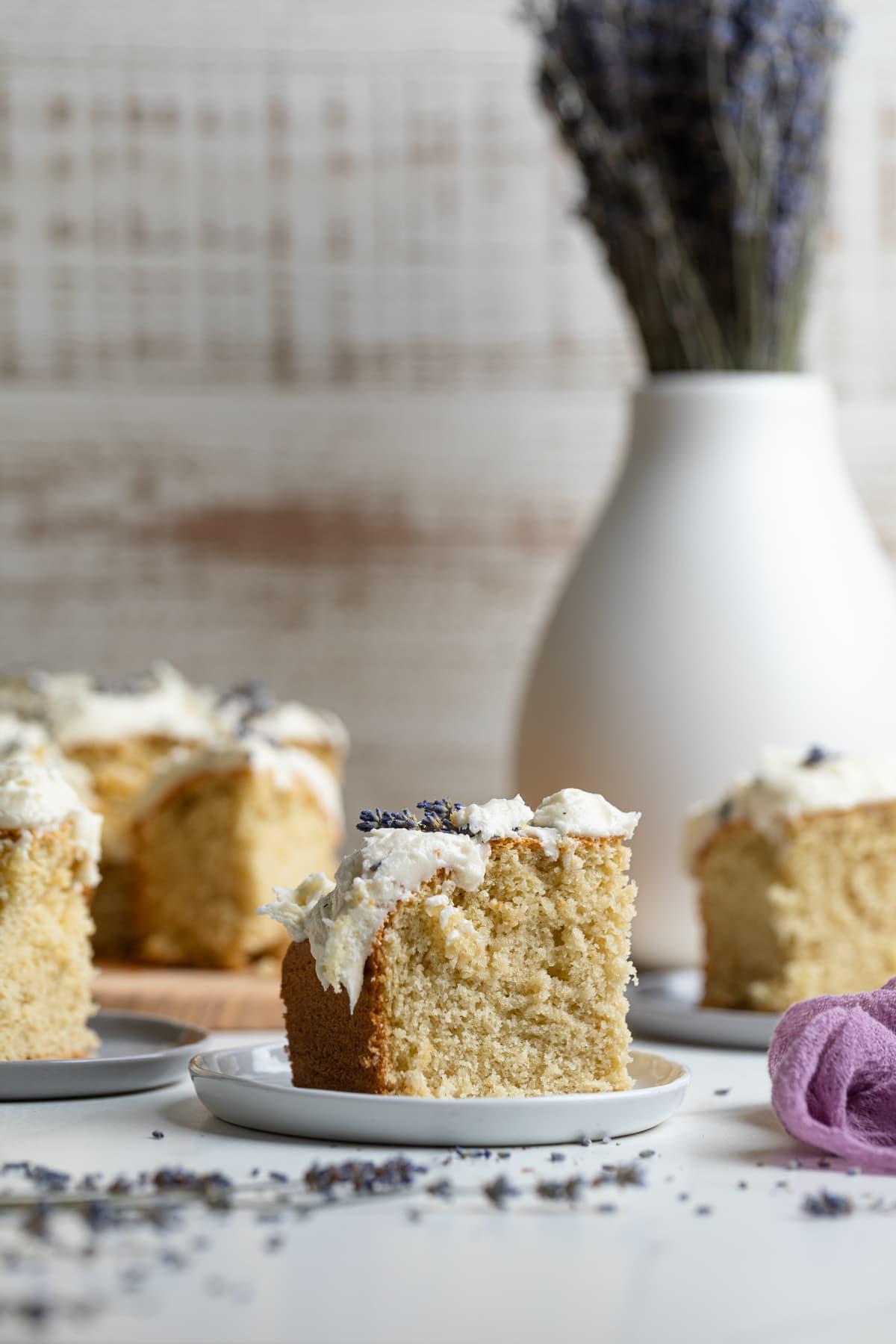 Chamomile Lavender + Honey Sheet Cake