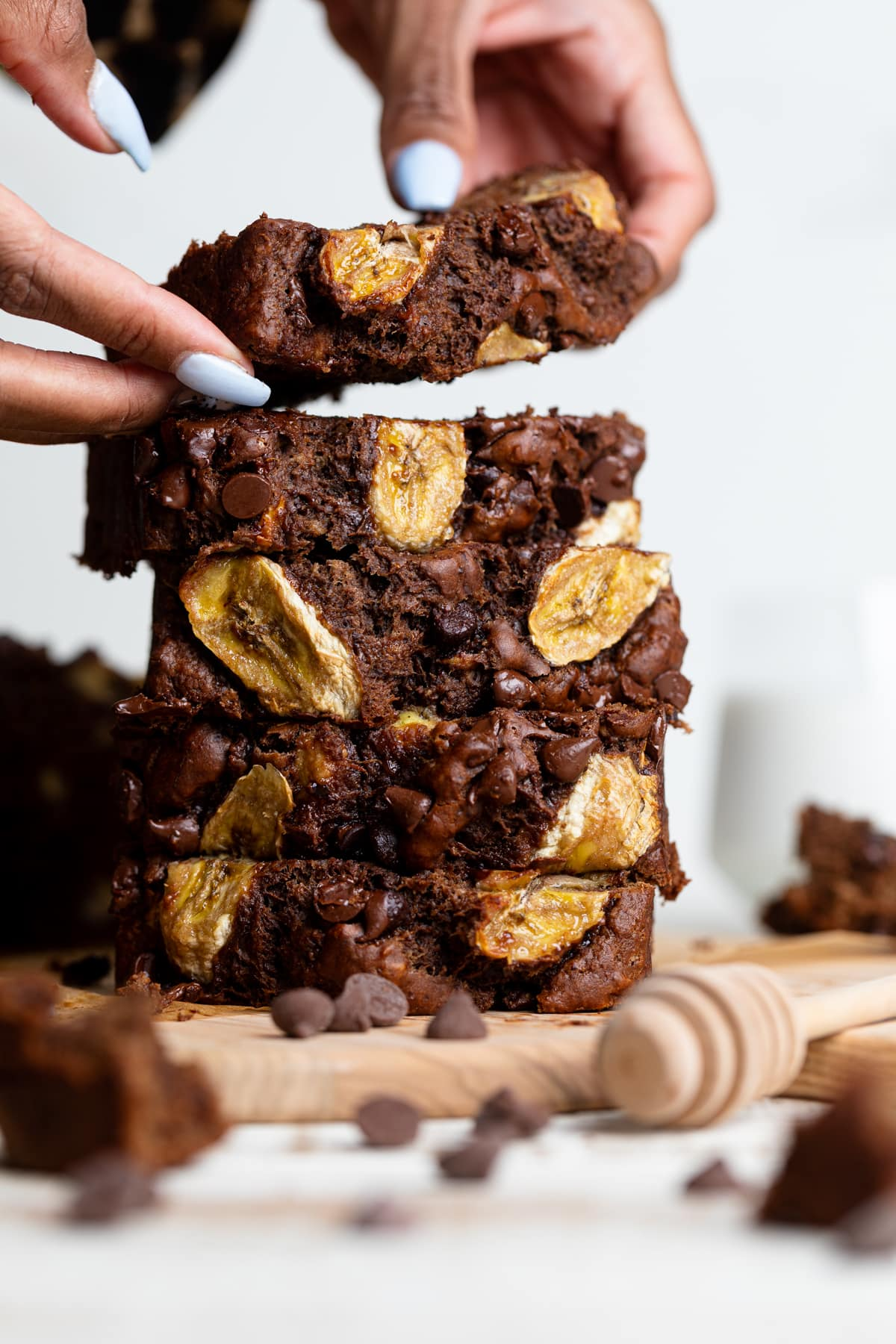 Vegan Chocolate Bourbon Banana Bread