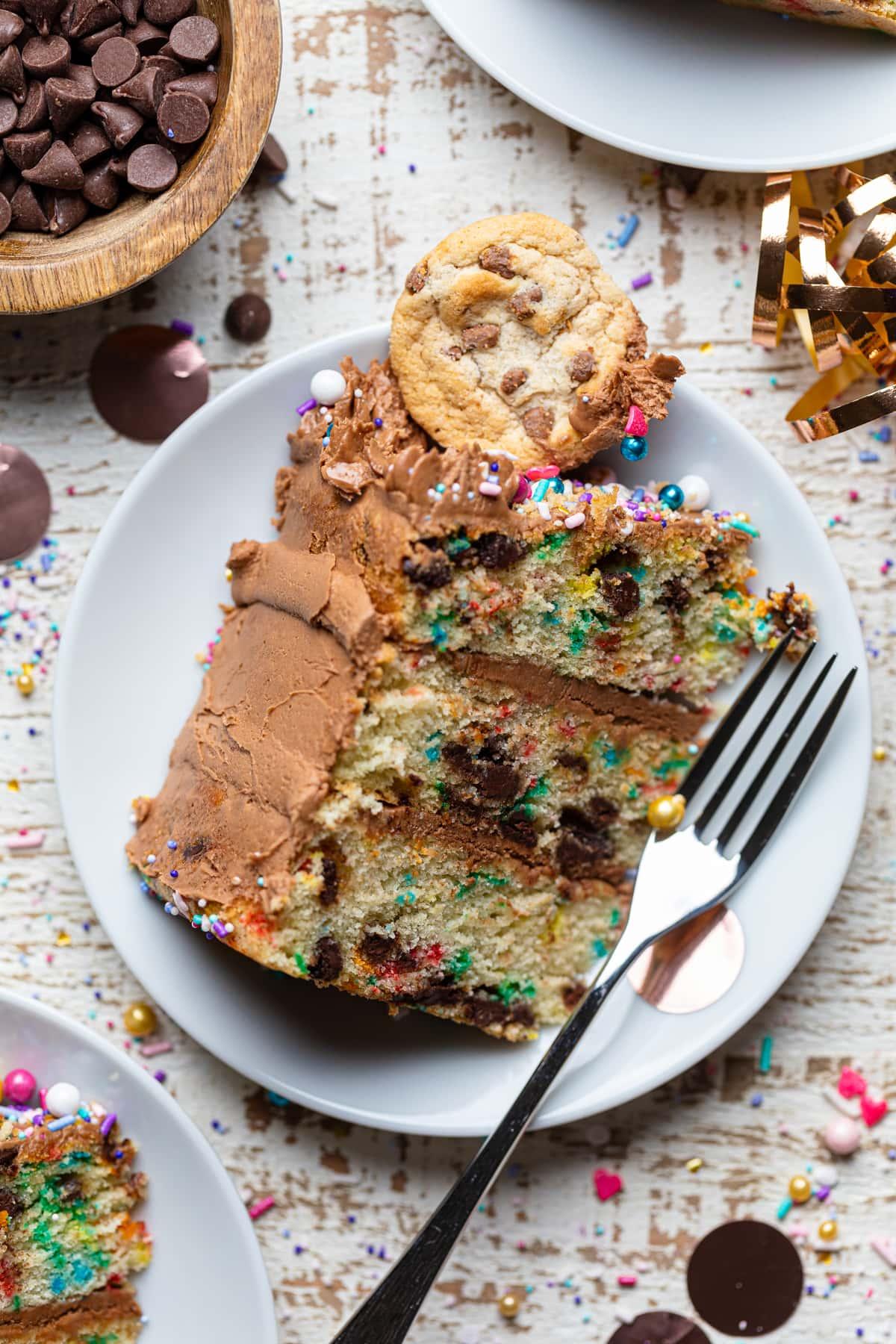 Confetti Chocolate Chip Cake