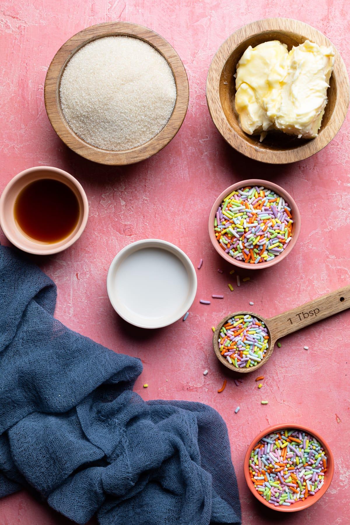 Edible Vegan Funfetti Cookie Dough