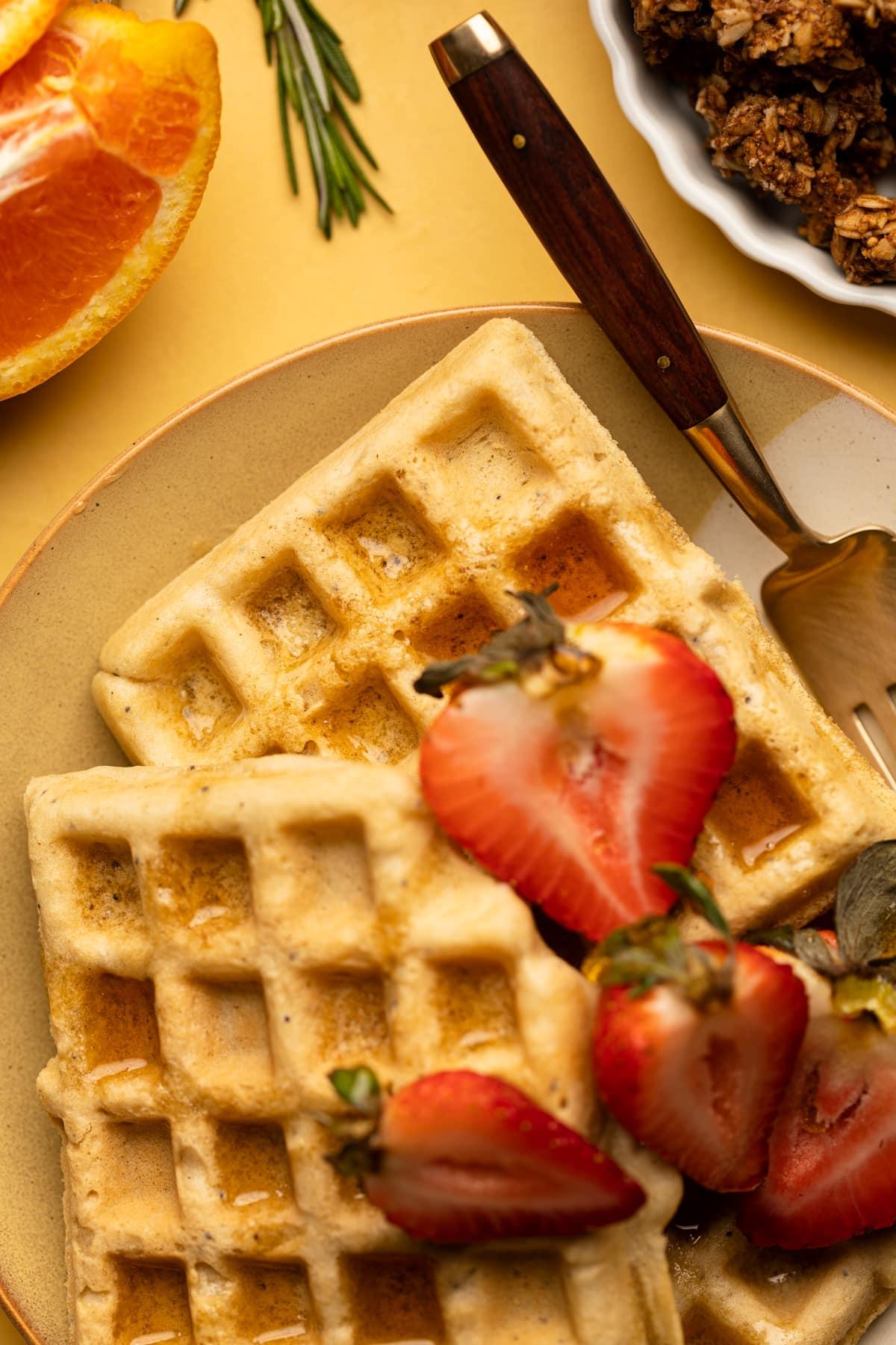 Gluten-Free Lemon Poppyseed Waffles