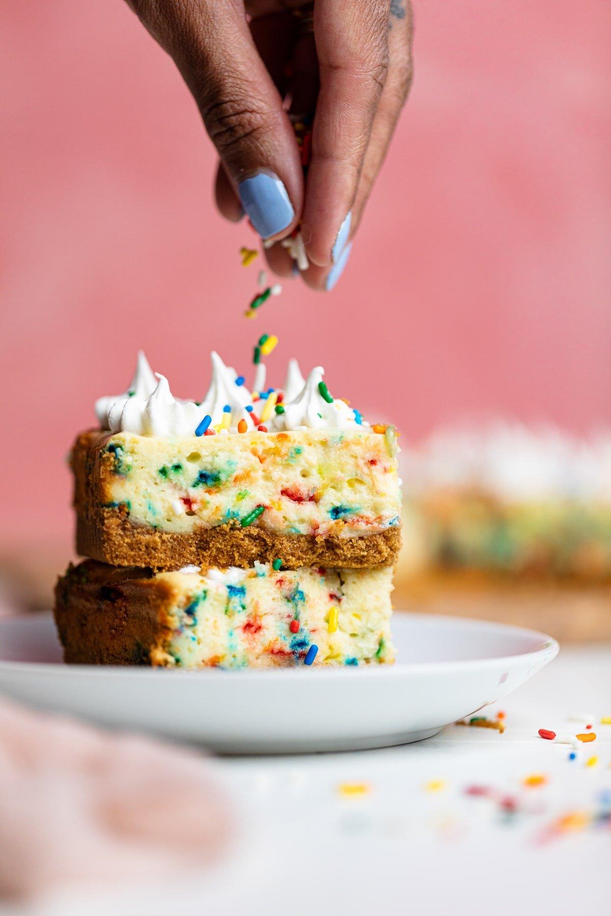 Funfetti Cheesecake Bars