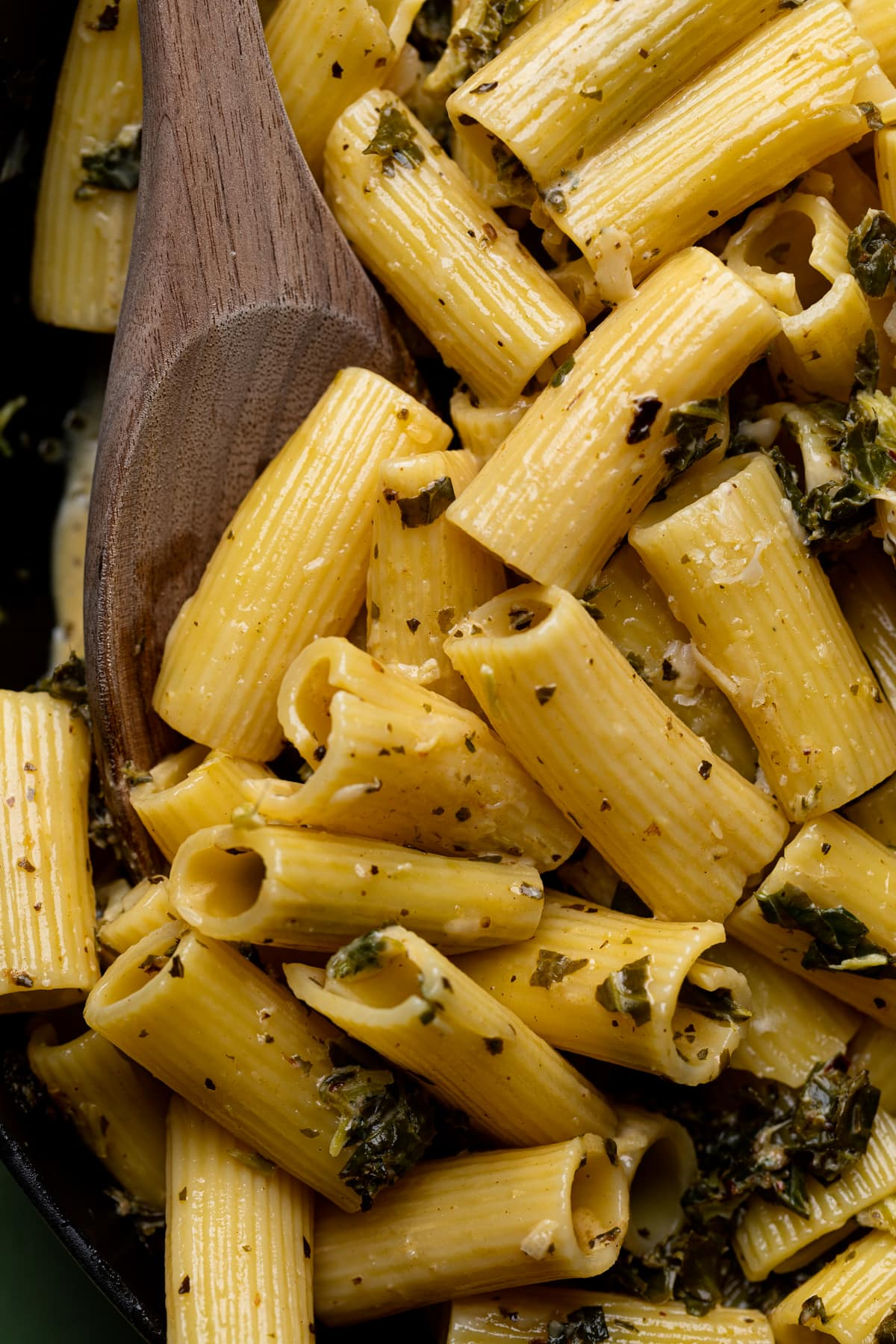 Lemon + Herb Garlic Parmesan Kale Pasta
