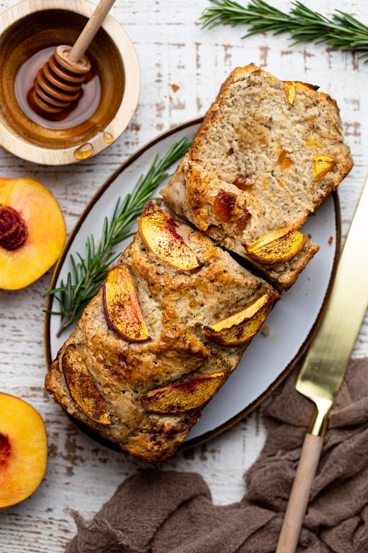 Cinnamon Maple Peach Bread