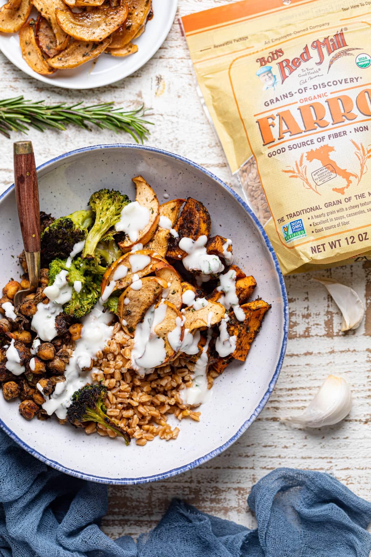 Jerk Vegetable Farro Bowl