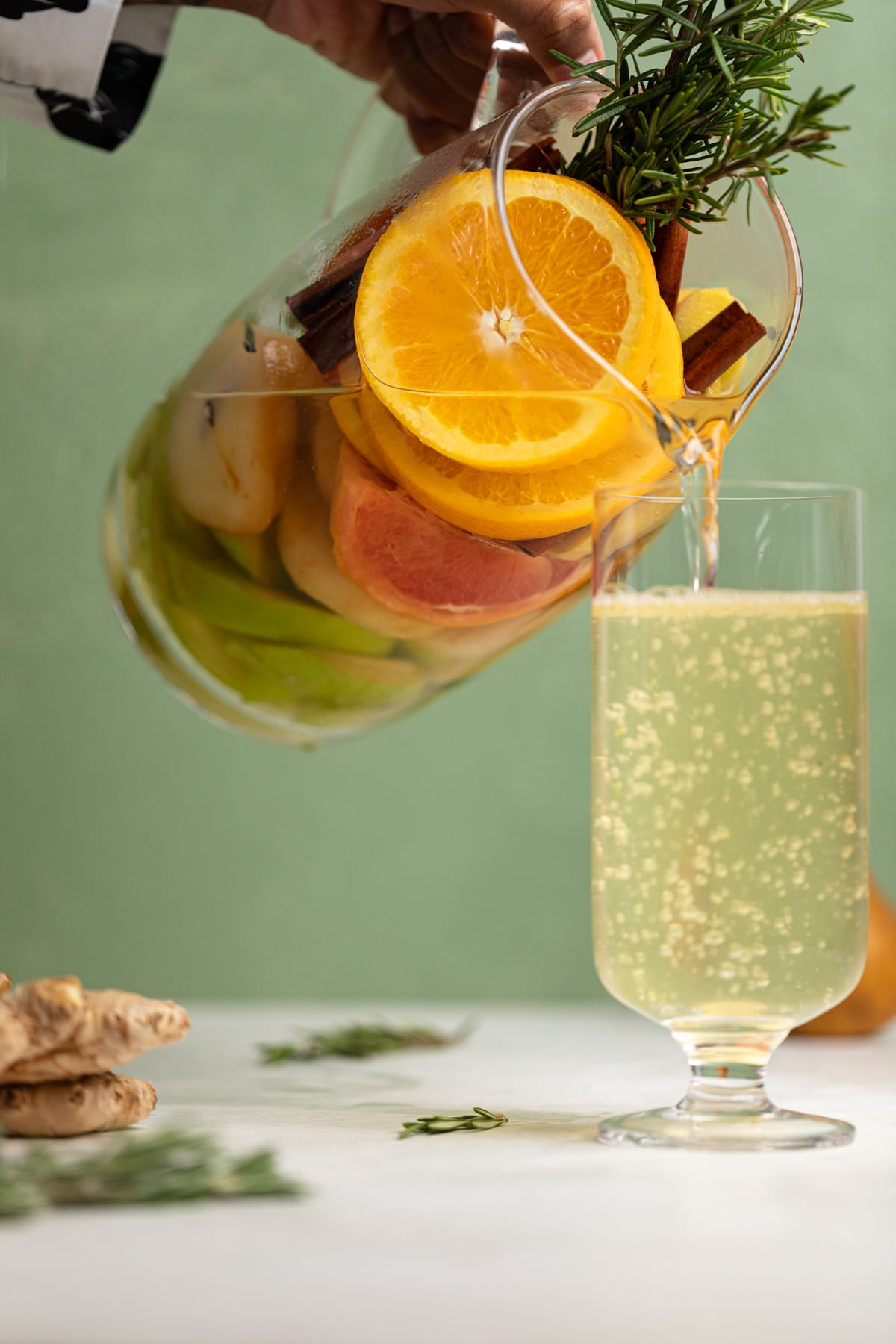 Citrus Ginger Pear Detox Infused Water