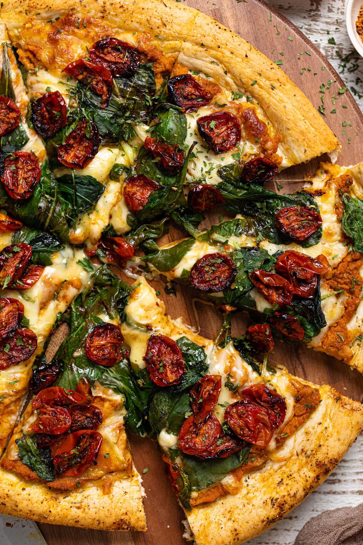 Cajun Roasted Veggie Pumpkin Pizza