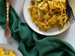 One-Pot Cajun Pumpkin Alfredo Pasta