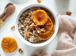 Maple Cinnamon Oatmeal + Caramelized Oranges