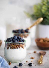 Blueberry Granola Yogurt Breakfast Parfait