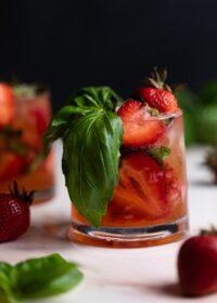 Strawberry Basil Pineapple Mocktail